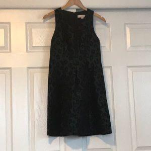 Loft dark green cheetah dress